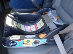 installed lap/shoulder seatbelt