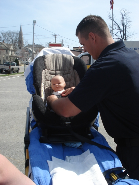 Securing Car Seat To Stretcher