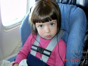 Carseat on airplane