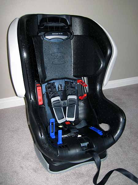 Advocate Without Cover Lowest Setting on Child Safety Harness Car Seat