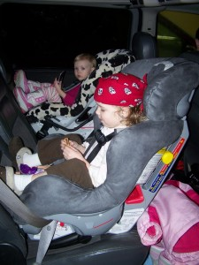 Rear-facing First Years True Fit & Britax Marathon