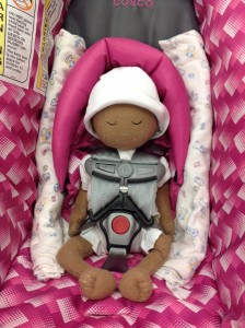 Huggable Images Preemie Doll in Cosco Light 'n Comfy