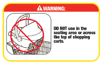 shopping cart warning diagram - Dorel