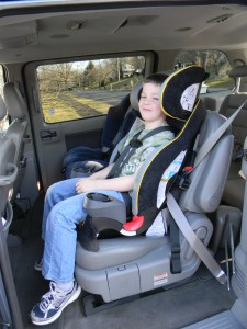 SK300 installed with lap/shoulder seatbelt