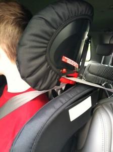 back of FR90 headrest