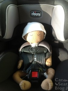 Preemie doll in Chicco NextFit