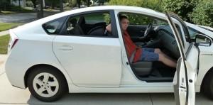 rear-facing in prius