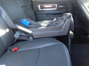 Nuna Pipa installed with seatbelt