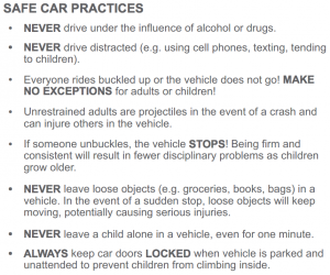Safe Car Practices
