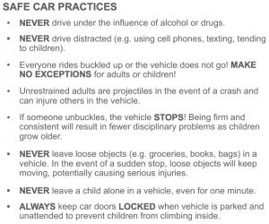 Safe Car Practices