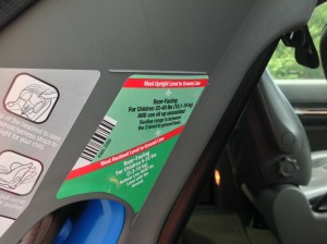 Dorel - dual level line recline indicator sticker