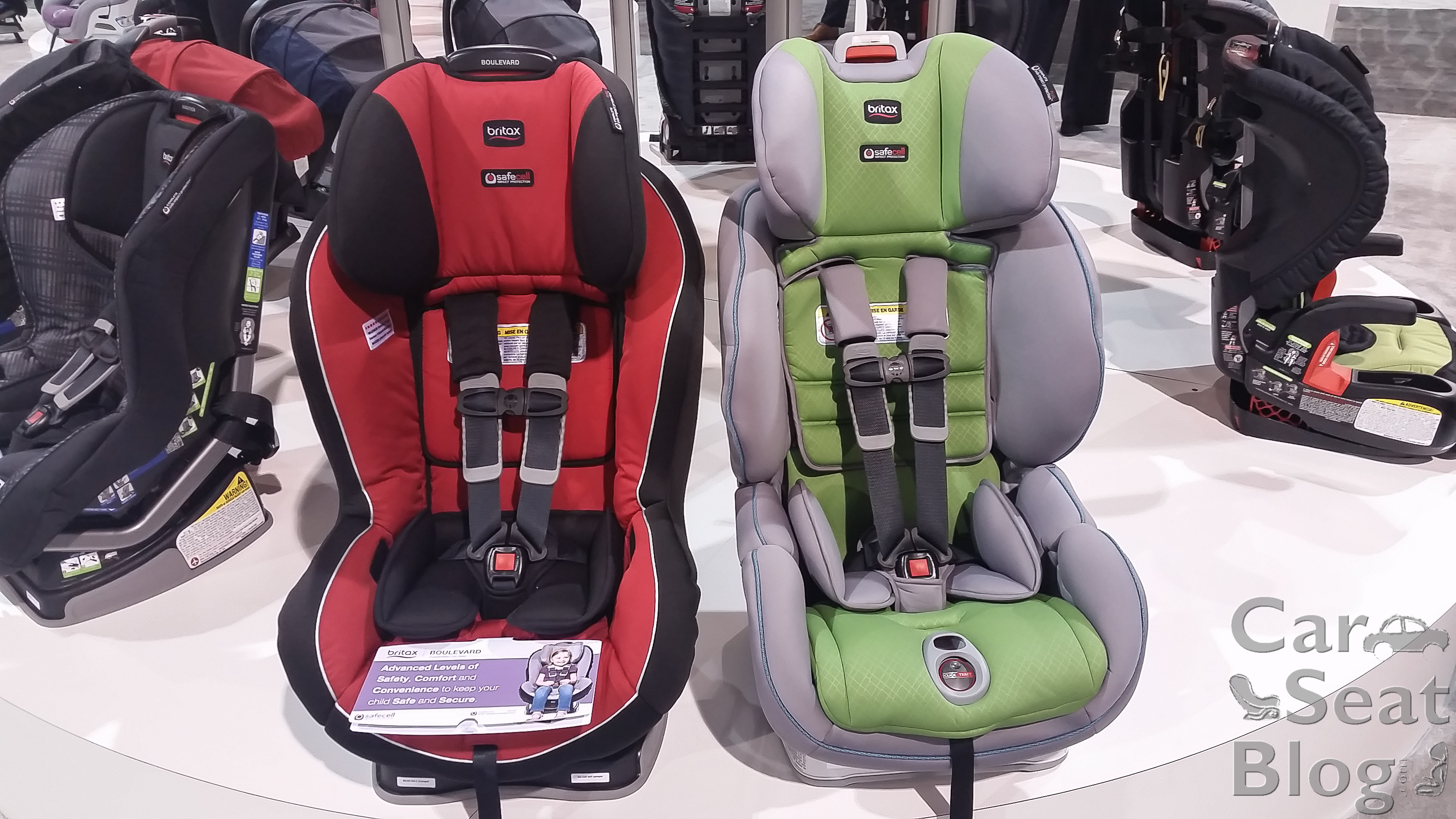 G41 Top Harness Slots Are About 15 Lower Than The ClickTight Seats And Overall Seat Height Is Shorter While 1 Wider