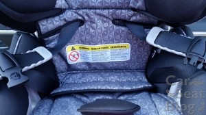 Britax Blvd CT - lowest height position folded excess fabric