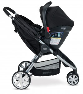 Britax B-Safe Elite B-Agile together