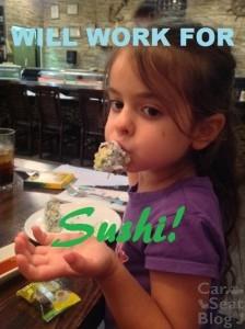 Will work for sushi - clara