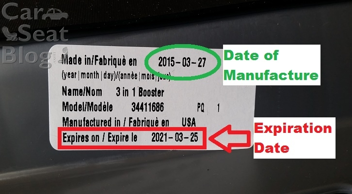 Car seat expiration dates