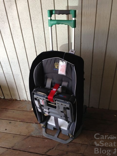 Britax Car Seat Travel Cart Designed Specifically To Use The Carseats LATCH Connectors Secure Carseat