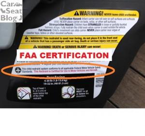 Maxi-Cosi mico max - FAA certification