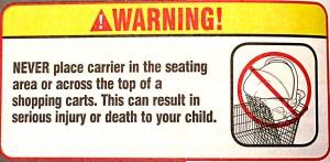 Graco shopping cart warning