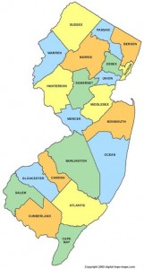 NJ county map