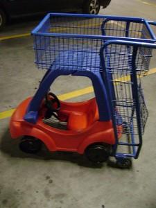 kid shopping cart