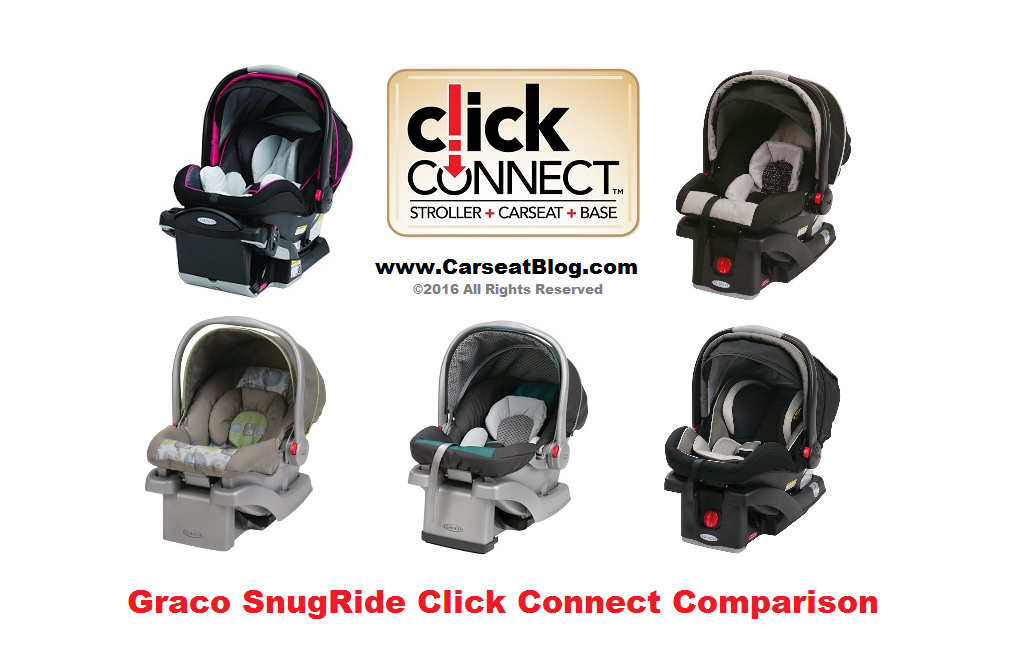 Graco SnugRide - model comparison graphic