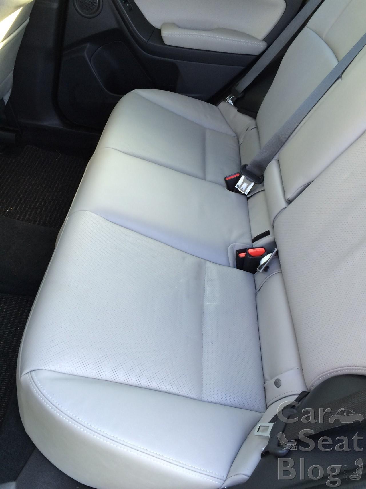 Rear seatbelts (except rear center seatbelt on Outback)