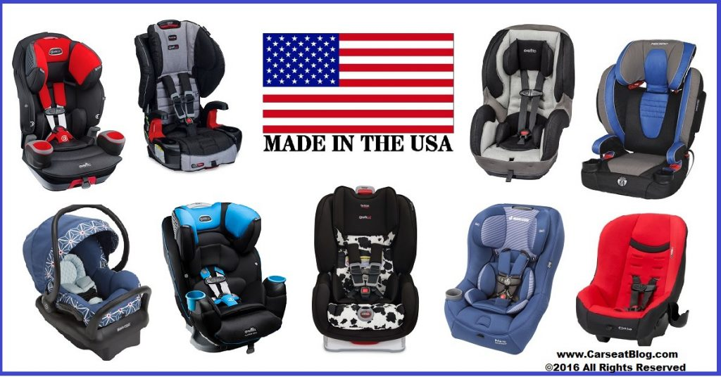 Carseats Made in USA graphic 2016