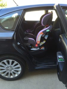 The Extend2Fit 3 In 1 Car Seat Installed Impreza With Front Passenger Pushed All Way Back