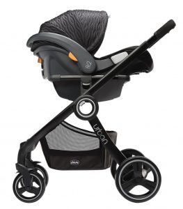 chicco-fit2-urban-stroller-frame-stock-image