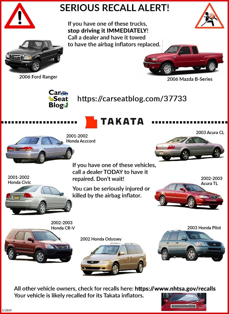 Takata Airbag Recall Get Your Car Fixed Now Carseatblog