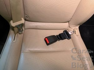 seat belt extender in Tesla Model X